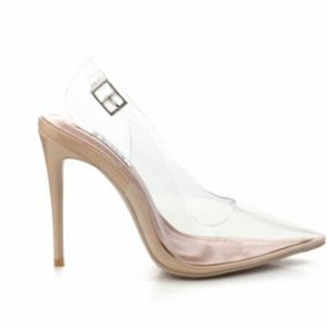CLEAR SLING BACK STYLED HEELS BY CAPE ROBBIN